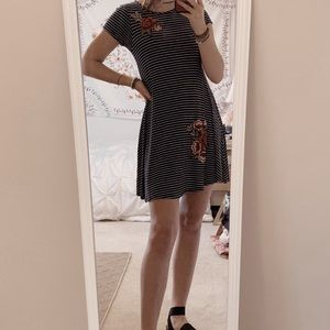 small striped embroidered dress